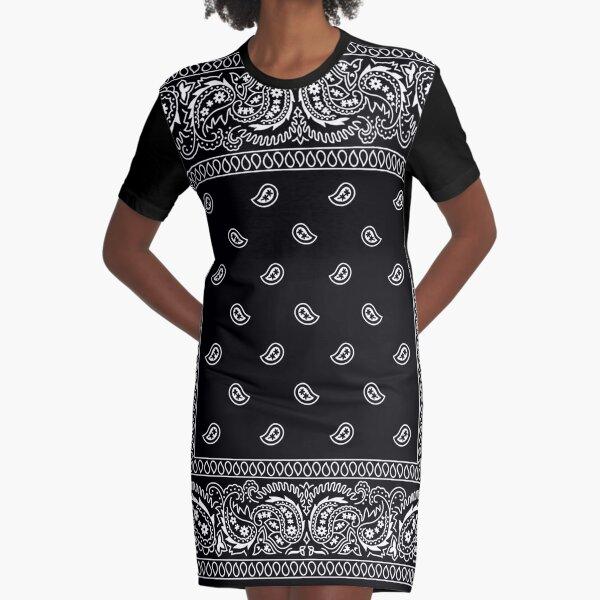 Bandanna Black Graphic T-Shirt Dress