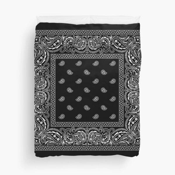 Bandanna Black Duvet Cover