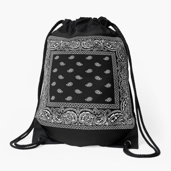 Bandanna Black Drawstring Bag