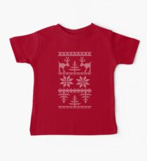 nordic knit pattern Baby Tee