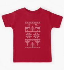 nordisches Strickmuster Kinder T-Shirt