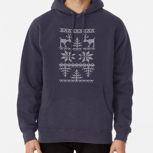 nordic knit pattern Pullover Hoodie