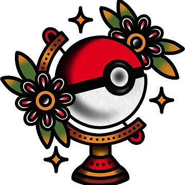 Traditional Pokeball Tattoo Piece by radquoteshirts