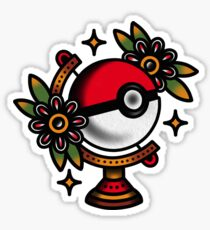 Traditional Pokeball Tattoo Piece Sticker
