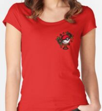 Traditional Pokeball Tattoo Piece Women's Fitted Scoop T-Shirt