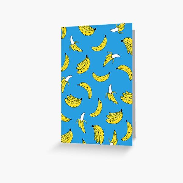 Banana Print Greeting Card