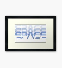 Space space space space Framed Print