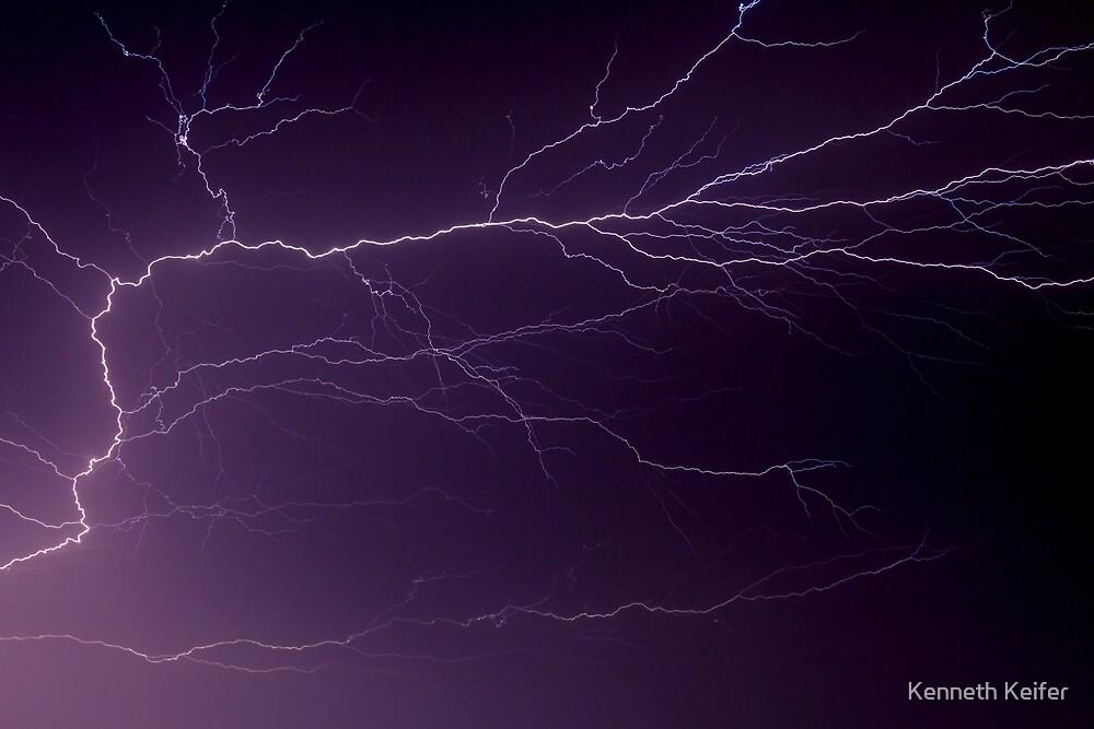 Intense Lightning Bolt Branches and Forks by Kenneth Keifer