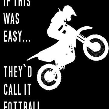 Funny English motocross football design by tshirting