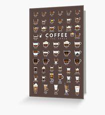 Coffe Chart Greeting Card