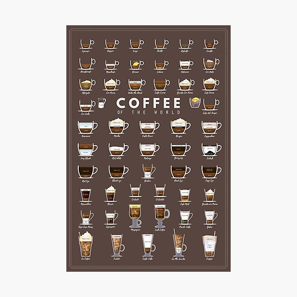 Coffe Chart Photographic Print