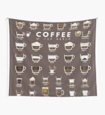 Coffe Chart Wall Tapestry