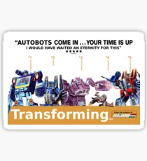 "Transformers ""Trainspotting"" Decepticons film poster Sticker"