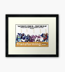 "Transformers ""Trainspotting"" Decepticons film poster Framed Print"