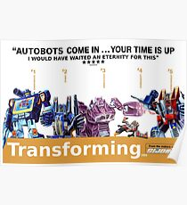 """Transformers """"Trainspotting"""" Decepticons film poster Poster"""