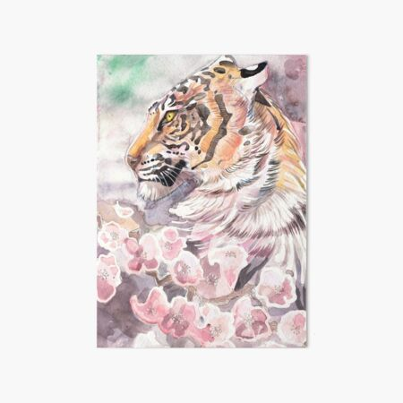 Tiger Blossom 2 Art Board Print