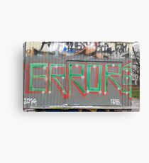 Tag Error 404 Canvas Print