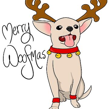 Merry Woofmas! Christmas Chihuahua by PhoenixMunro