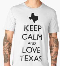 KEEP CALM and LOVE TEXAS Men's Premium T-Shirt