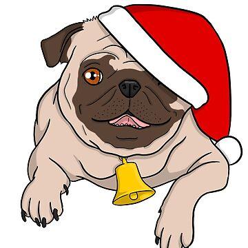 Christmas Pug! by PhoenixMunro