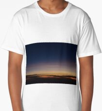 Moon rising above the clouds; sunset above clouds; sunset; moon Long T-Shirt