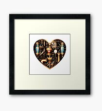 Steampunk Heart Framed Print