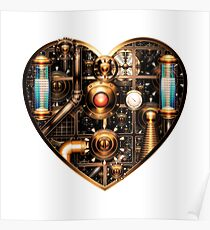 Steampunk Heart Poster