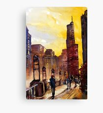 Chicago, IL watercolor painting Canvas Print