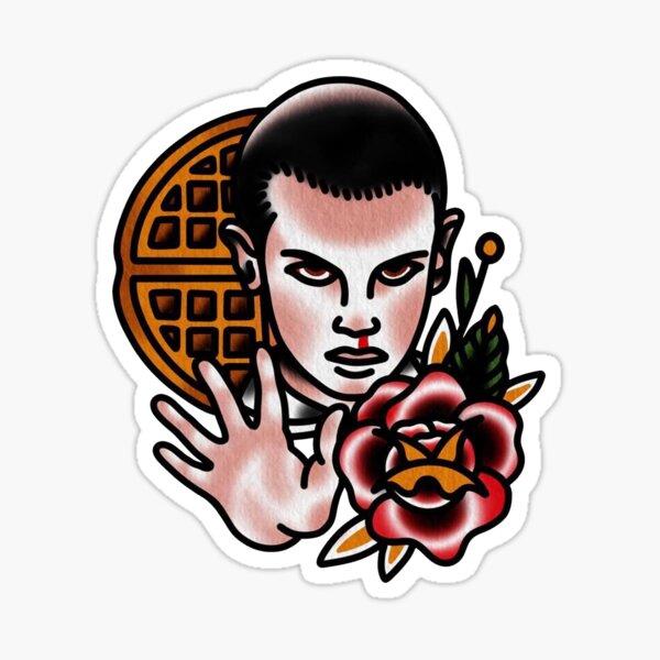 Traditional Eleven Tattoo Piece Sticker