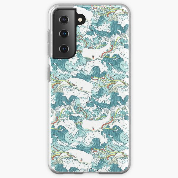 Whales and Waves Pattern Samsung Galaxy Soft Case