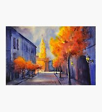 Charleston, SC watercolor painting Photographic Print