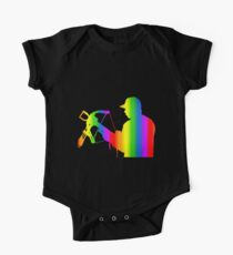 Colorful Crossbow Rainbow Sticker Kids Clothes