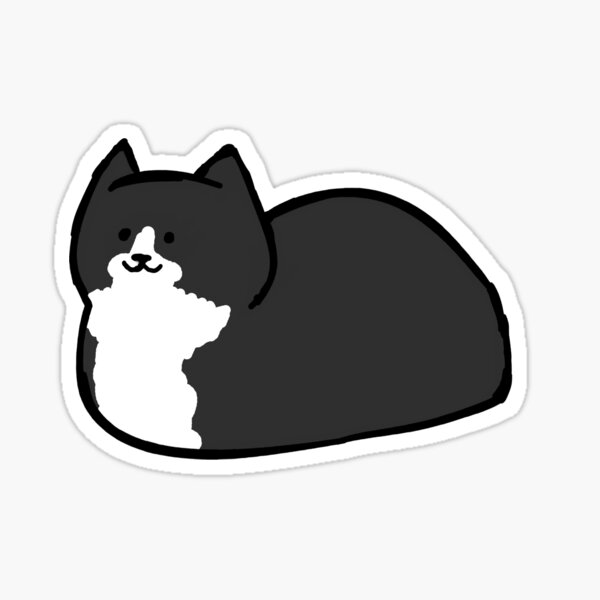 Tuxedo Cat Loaf Sticker