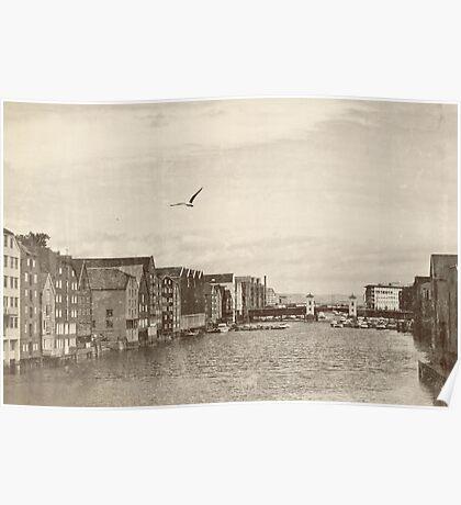 A postcard from Trondheim Poster