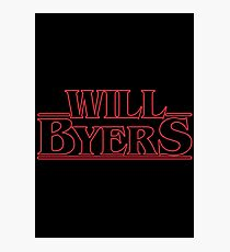 Will Byers Photographic Print