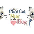 Thai Cat Hug Mug by DougPop