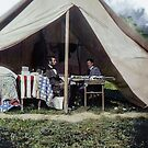 Antietam, Md. President Lincoln and Gen. George B. McClellan in the general's tent, September-October 1862. by Marina Amaral
