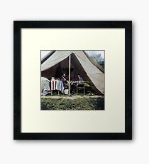 Antietam, Md. President Lincoln and Gen. George B. McClellan in the general's tent, September-October 1862. Framed Print