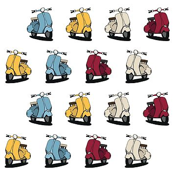 Vespa Pattern Graphic  by RevCamp