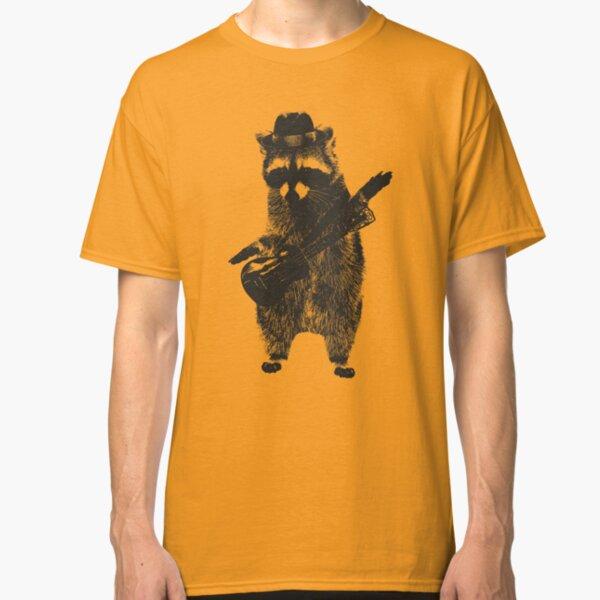 Raccoon wielding ukulele Classic T-Shirt