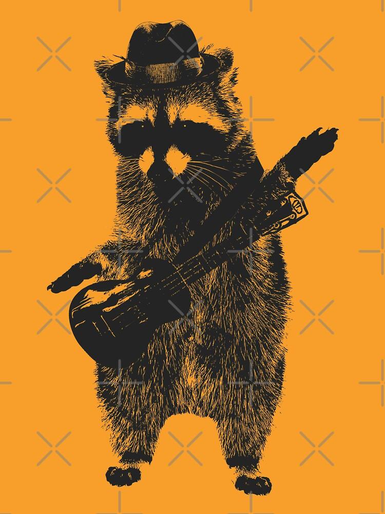 Raccoon wielding ukulele by autoboxdesign