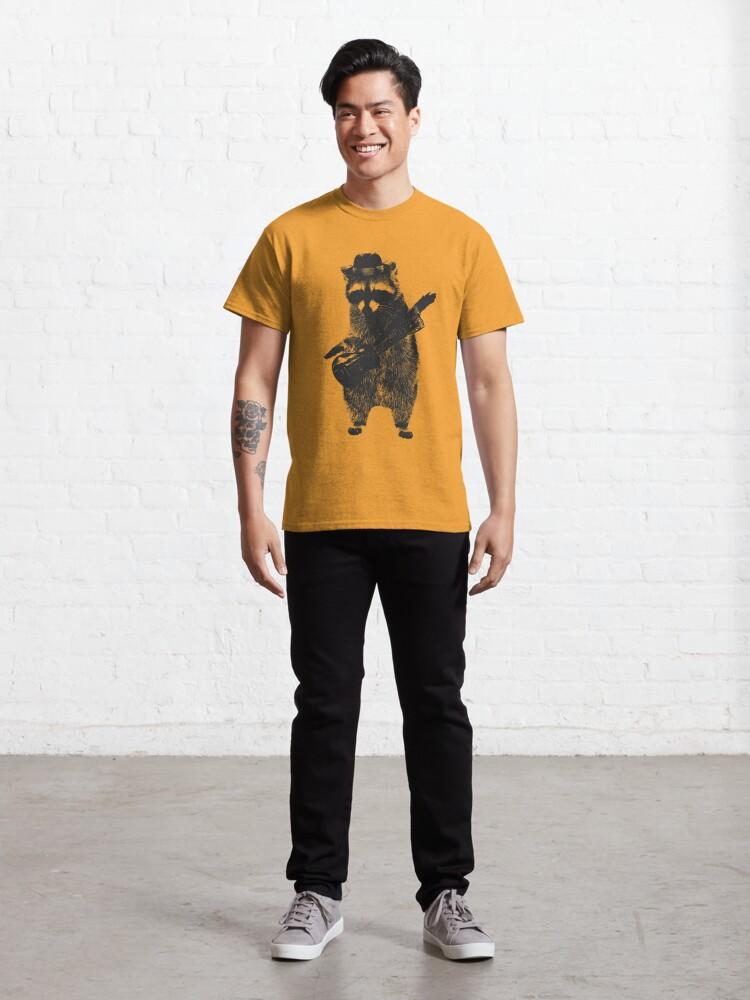 Alternate view of Raccoon wielding ukulele Classic T-Shirt