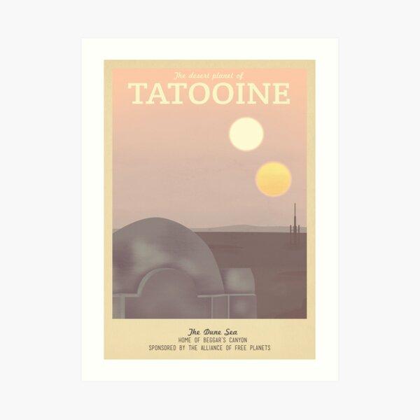 Affiche de voyage rétro Tatooine Impression artistique