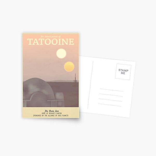 Tatooine Retro Travel Poster Postcard