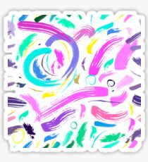 Seamless multicolor pattern, drawn with a brush. Sticker