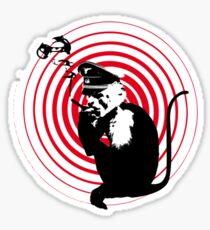 Evil Smoking Monkey Sticker