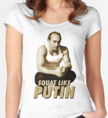 Squat like Putin Women's Fitted Scoop T-Shirt