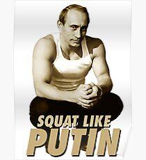 Póster Sentadilla como Putin