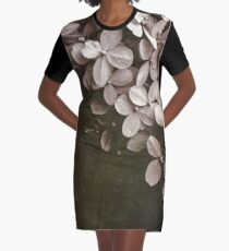 hydrangea Graphic T-Shirt Dress