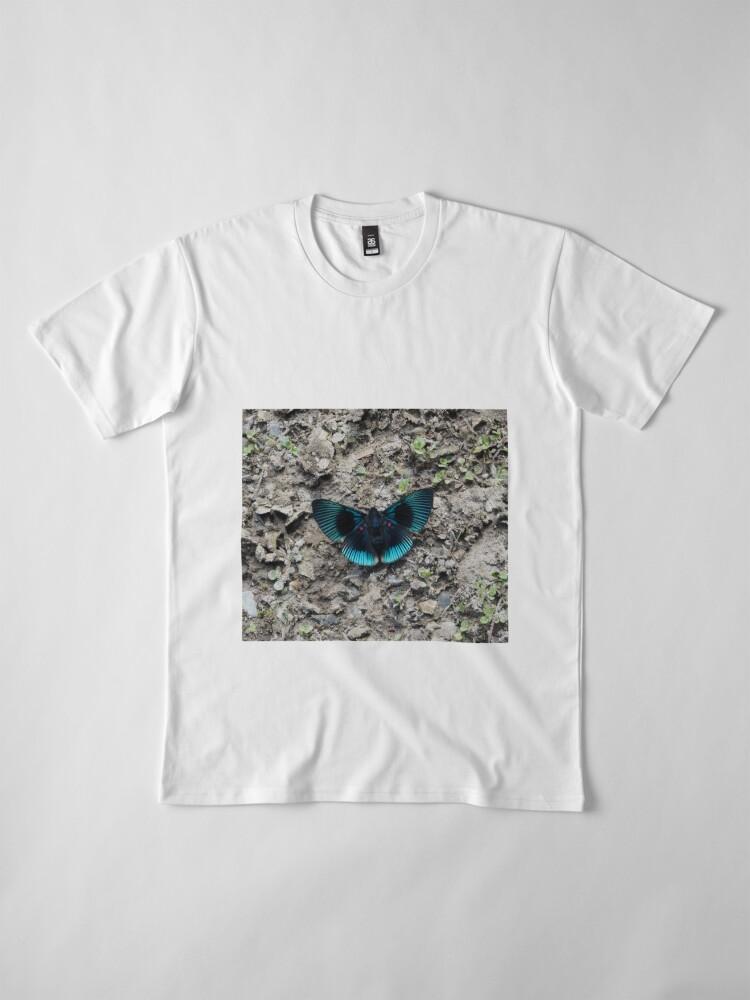 Alternative Ansicht von A stunning blue and black striped butterfly Premium T-Shirt